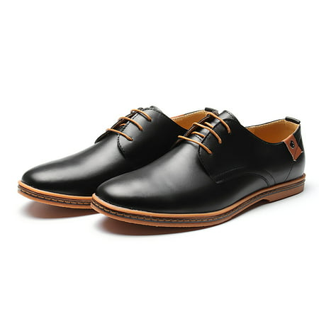 Men's Fashion Formal Leather Dress Oxfords Business Lace up Casual Shoes