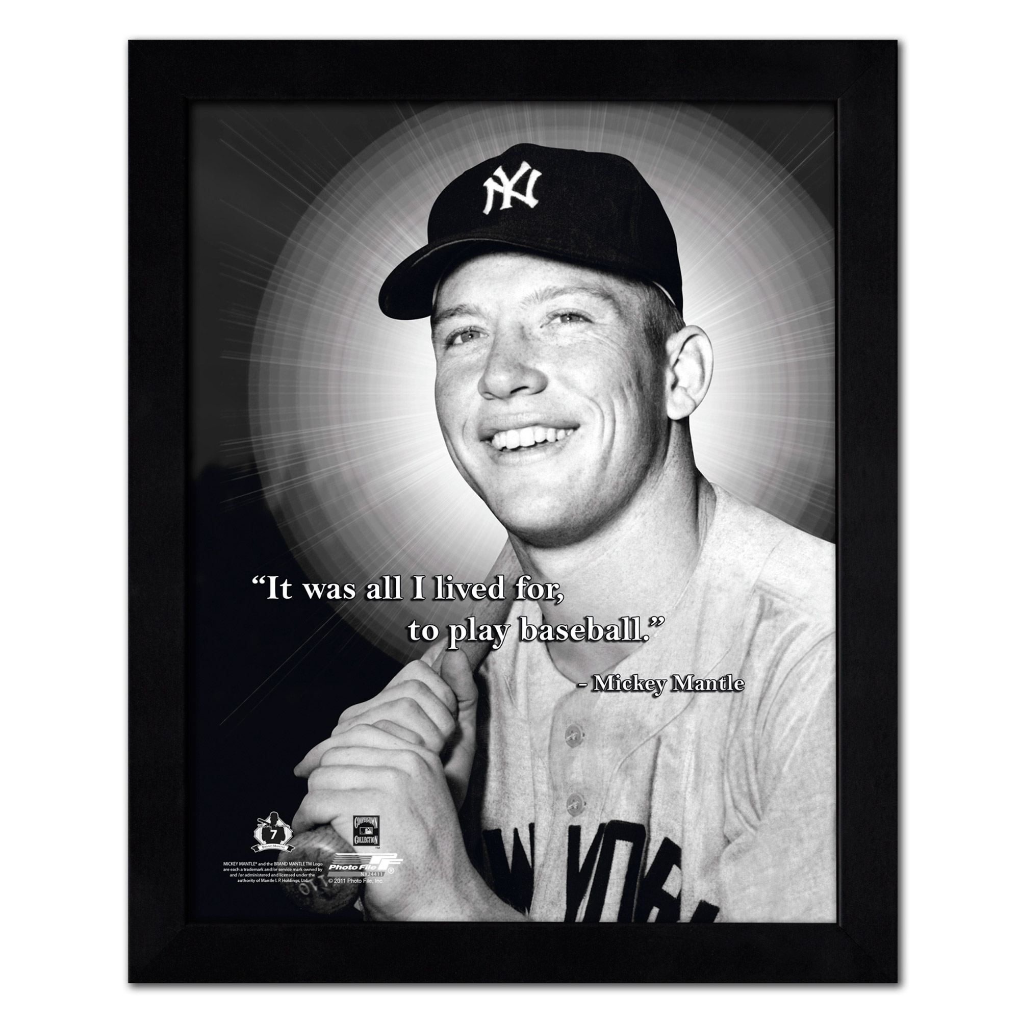 "Mickey Mantle New York Yankees 18"" x 22"" ProQuote Photo - No Size"