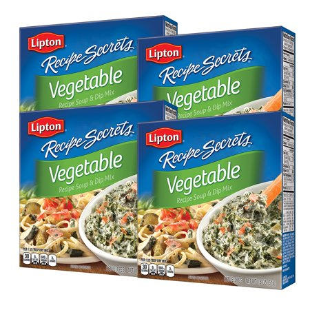 (4 Pack) Lipton Soup and Dip Mix Vegetable 1.8 oz