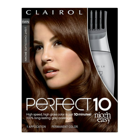 Clairol Nice 'n Easy Perfect 10 Hair Color, 6WN Light Chocolate