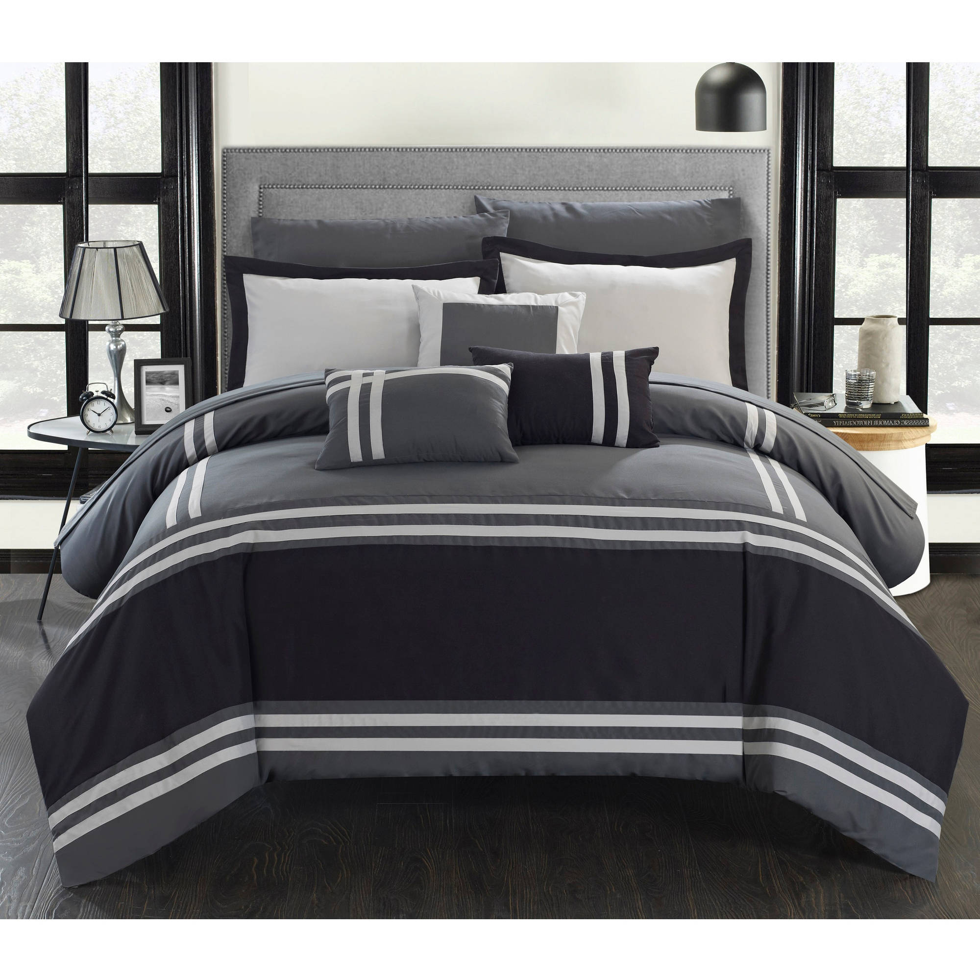 Chic Home Georgette 10-Piece Bed-in-a-Bag Comforter Set
