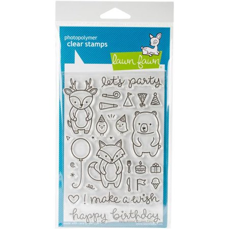 Animals Clear Stamps - Lawn Fawn Clear Stamp Party Animal