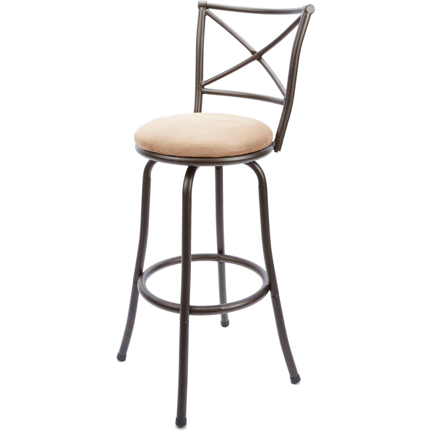 """Mainstays 29"""" Swivel X-Back Hammered Bronze Bar Stool, Multiple Colors by Generic"""