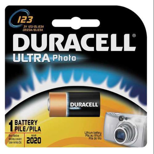 DURACELL DL123ABPK Battery, 123, Lithium, 3V