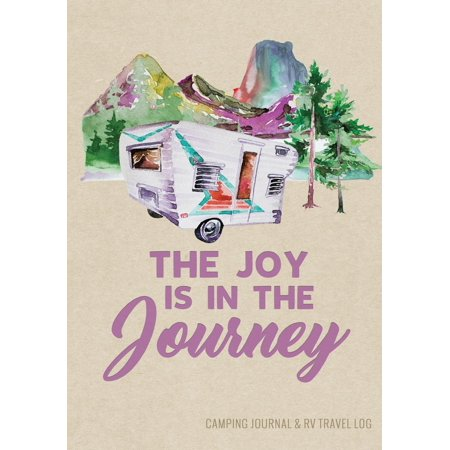 Camping journal & rv travel logbook, vintage camper journey : road trip planner, caravan travel jour: