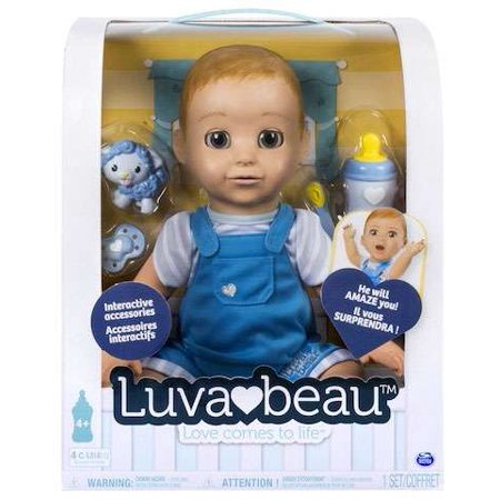 Luvabella Responsive Baby Blond Hair Doll  Boy