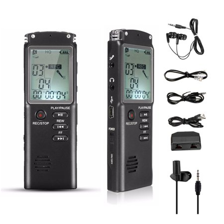 8GB 65hr Voice Activated USB Digital Voice Recorder Built in Speaker Cellphone and Landline Call Recording mp3 with Playback -Tape Recorder for Lectures, Meetings,