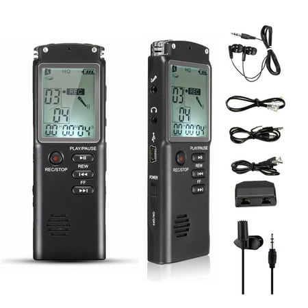 8GB 65hr Voice Activated USB Digital Voice Recorder Built in Speaker Cellphone and Landline Call Recording mp3 with Playback -Tape Recorder for Lectures, Meetings, Interviews