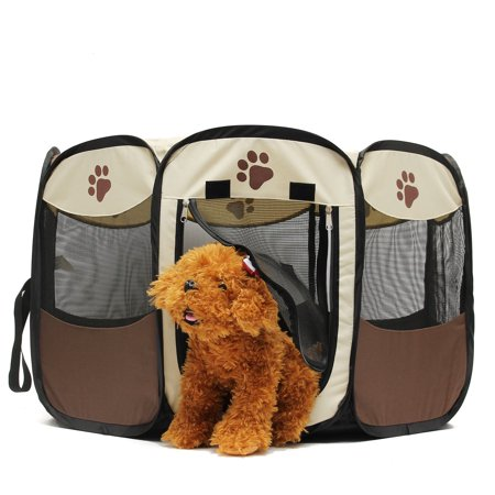 Large Capacity Pet Fence Dog Kennel Play Pen Puppy Soft Playpen Exercise Run Cage Folding