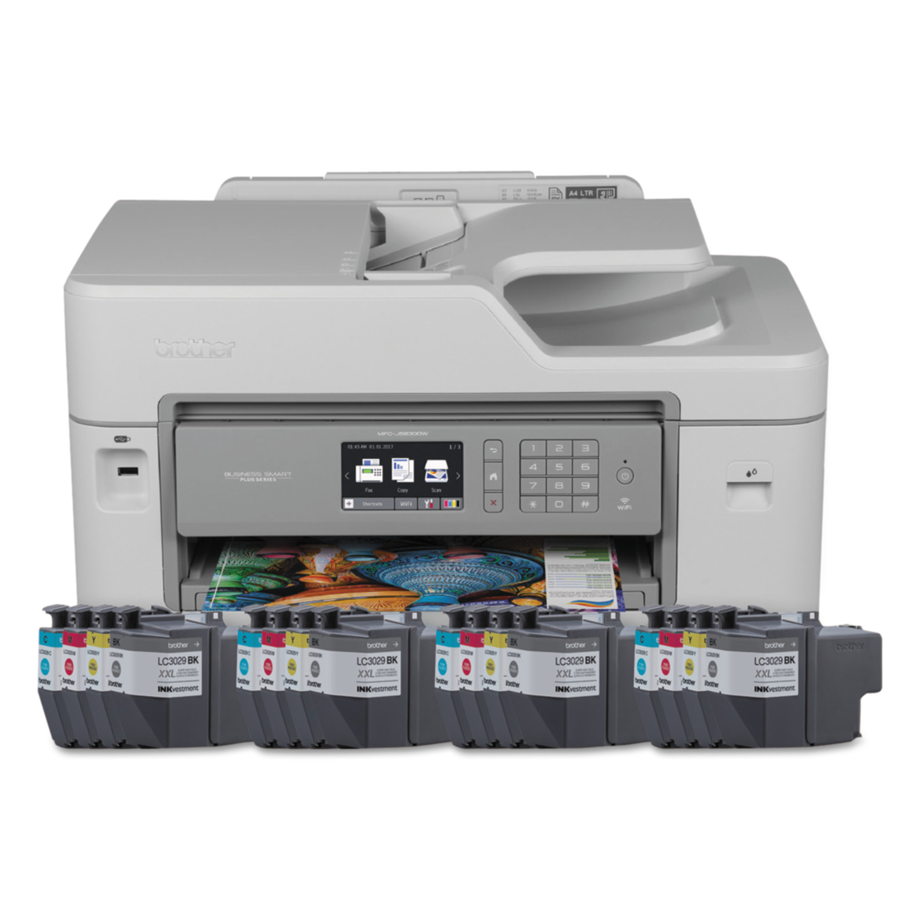 Brother Business Smart Plus MFC-J5830DWXL Color Inkjet All-in-One Printer Series by Brother