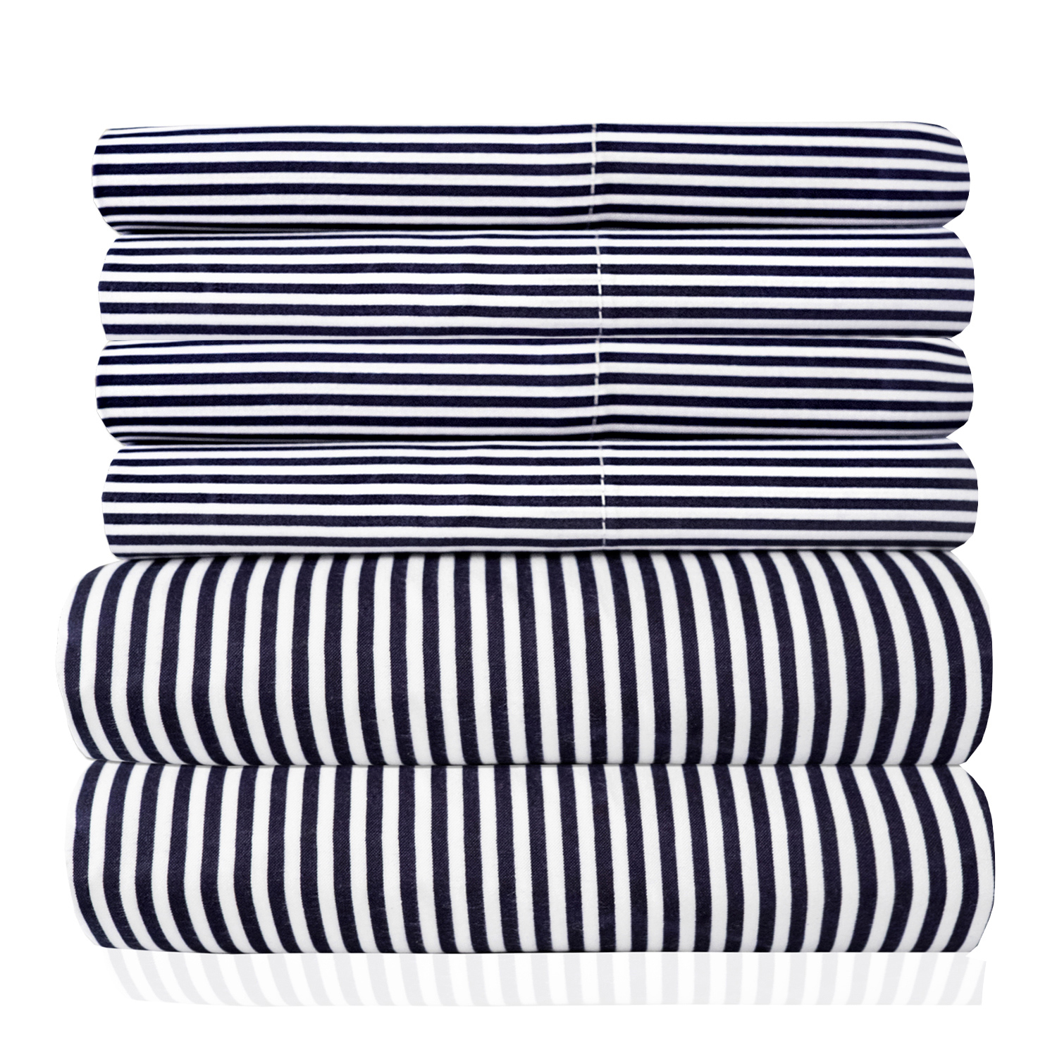 1500 Thread Count Egyptian Quality Microfiber Deep Pocket Bedroom Classic Stripe Sheet Set