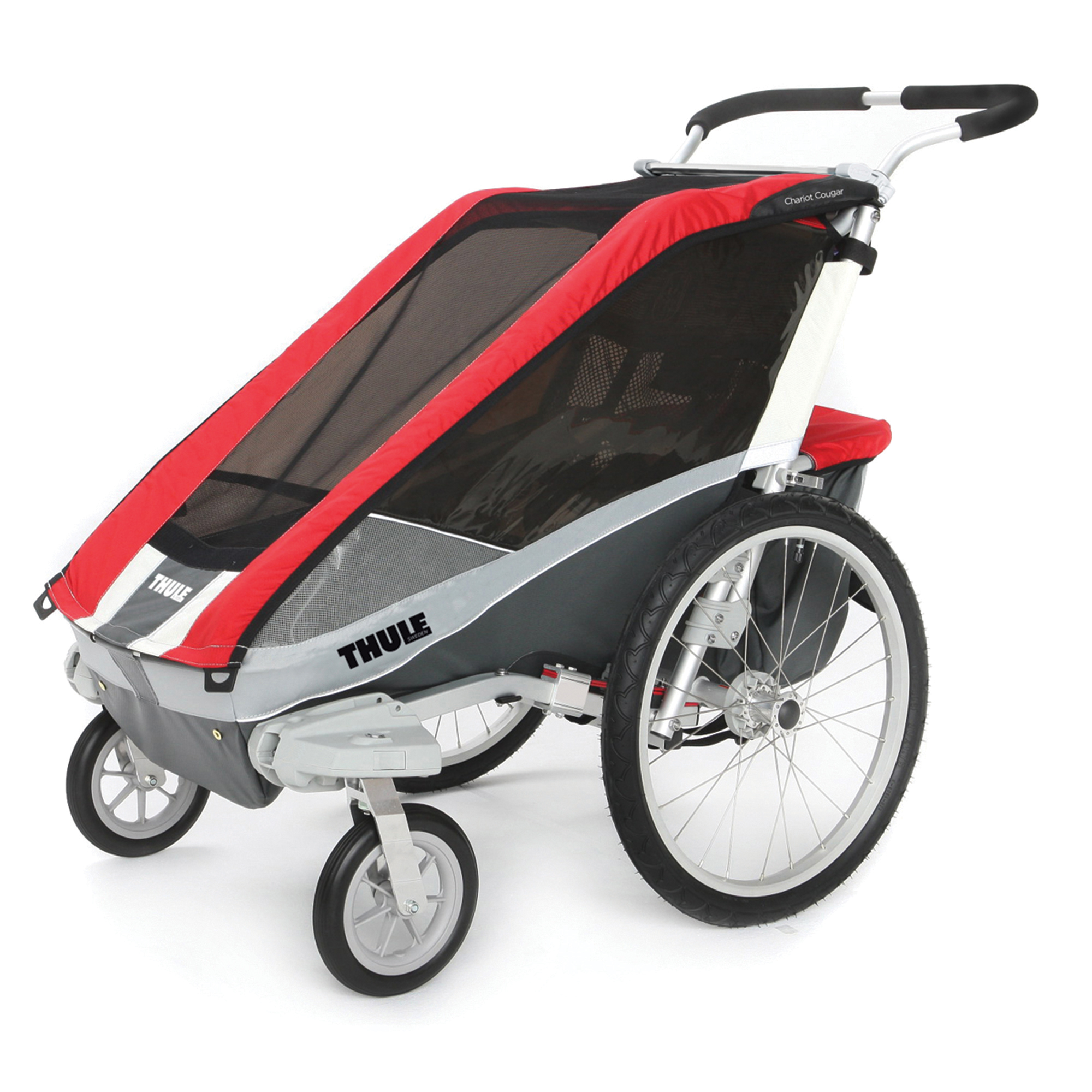 Thule, Cougar1, Red w/ Strolling Kit, 1 Child