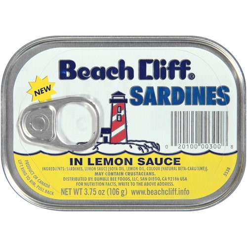 Bumble Bee Cliff Sardines, in Lemon Sauce, 3.75 Oz by Bumble Bee Foods, LLC