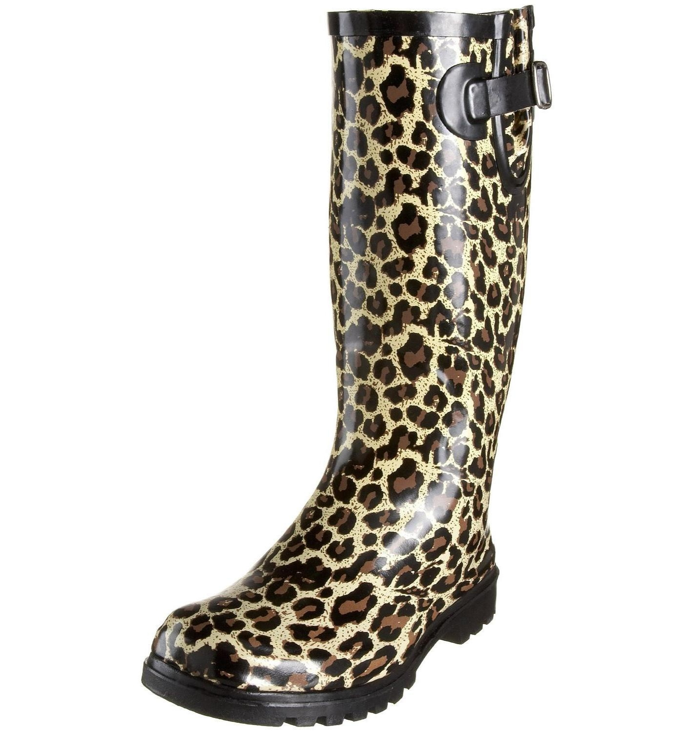 Nomad Tan Leopard Rain Boot by Nomad
