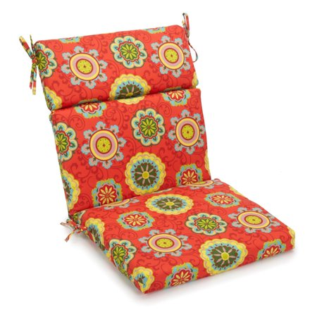 Blazing Needles 22 x 45 in. Outdoor High Back Patio Chair Cushion