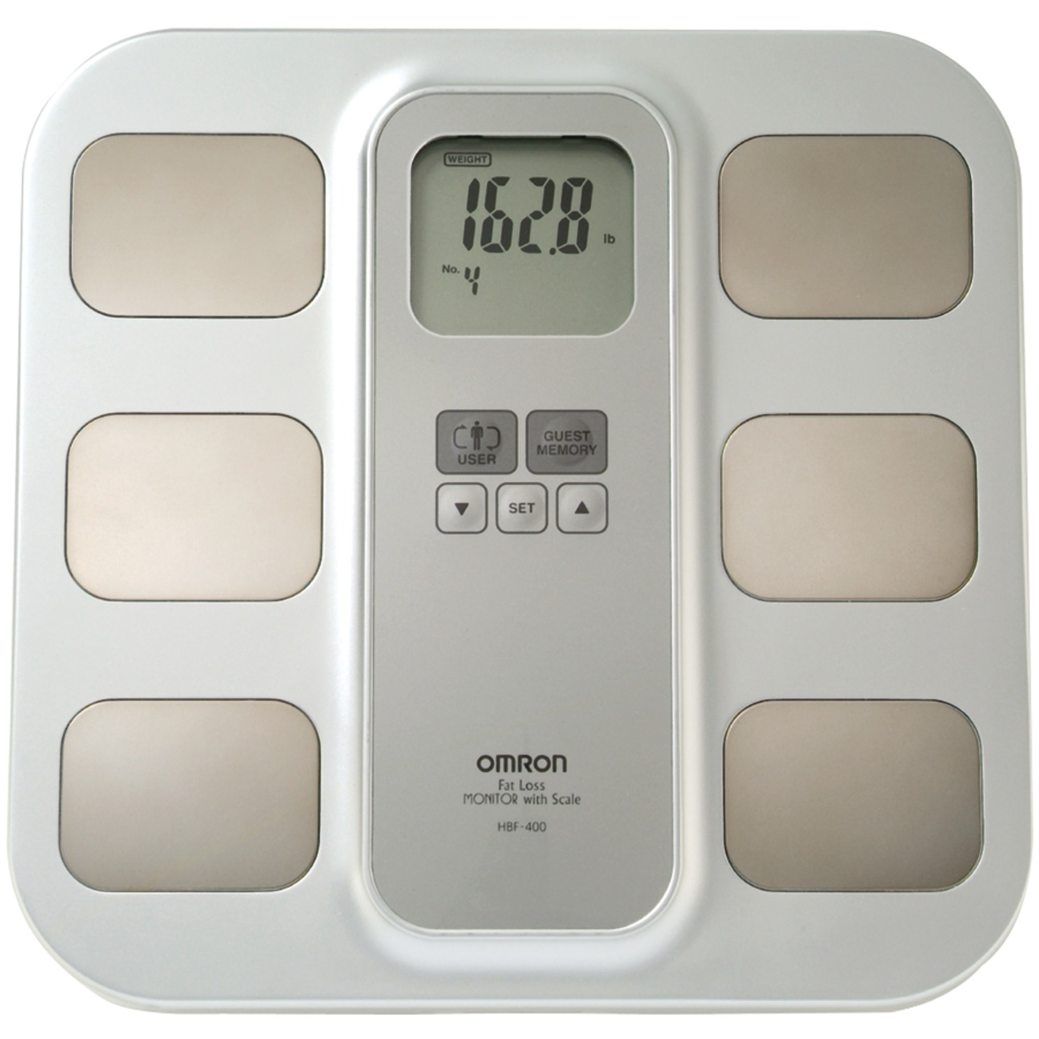 Omron Hbf-400 Full-body Sensor Body Composition Monitor & Scale With 3 Fitness Indicators