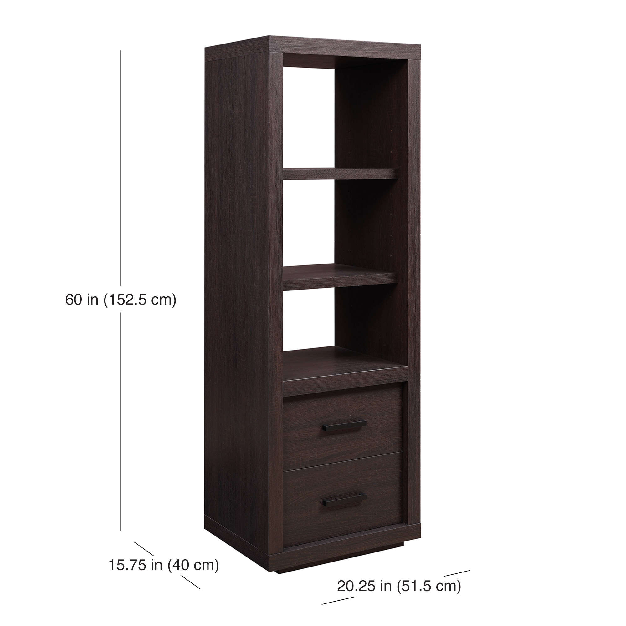Better Homes Garden Steele Audio Tower Wood Shelves Storage Living Room