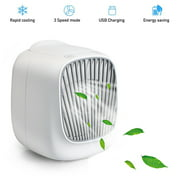 Gohope Portable Air Cooler, Mini Air Conditioner, 3 In 1 Personal Evaporative Cooler, Humidifier,3-speed Desktop Cooling Fan for Home, Room, Office