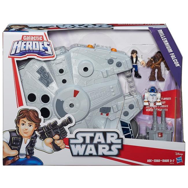 Hasbro HSBB3816 Star Wars Galactic Heroes Millennium Falcon Set of 2 by Hasbro