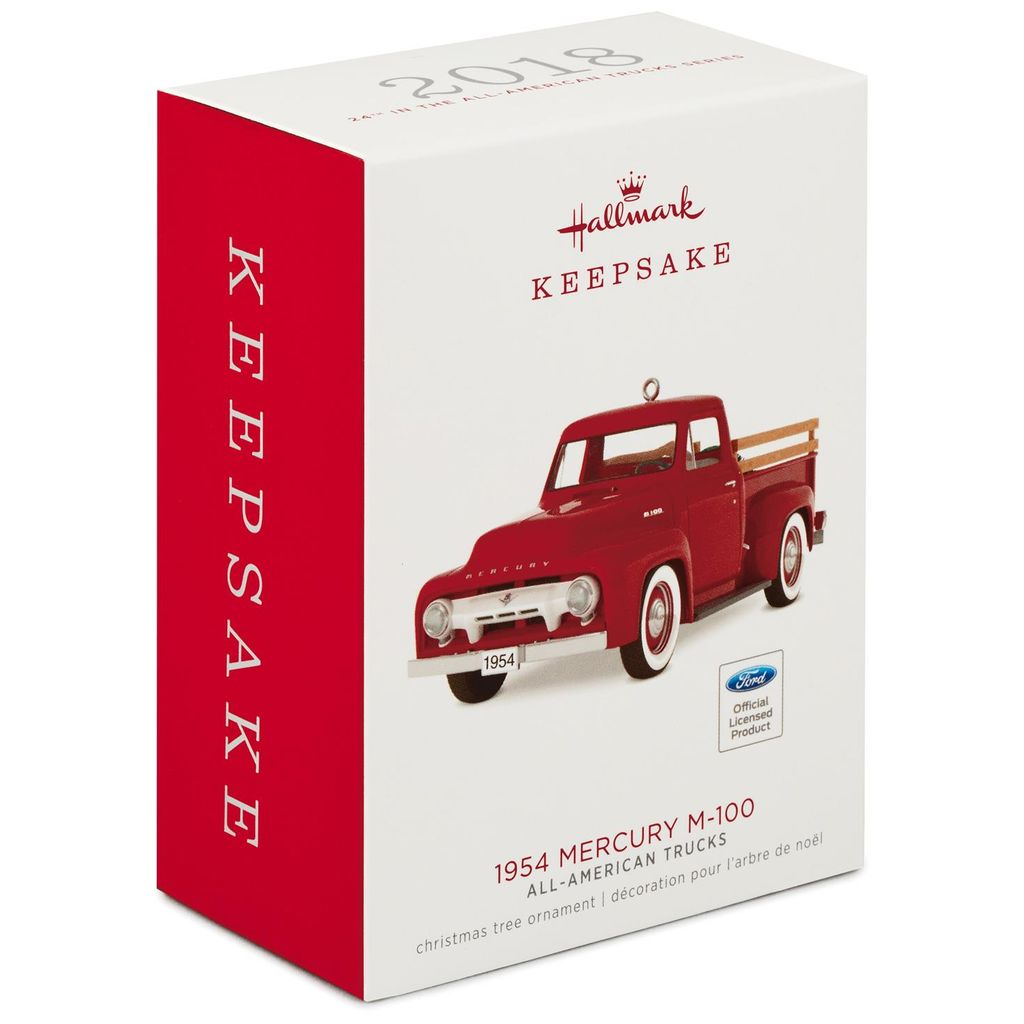 Hallmark Keepsake 2018 All-American Trucks 1954 Mercury M-100 Metal Ornament
