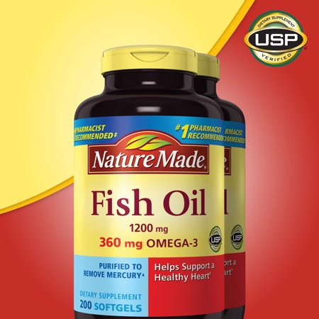 Nature made fish oil 1200 mg 400 softgels for Fish oil constipation