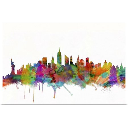 "Great BIG Canvas | ""New York City Skyline"" Poster Print"