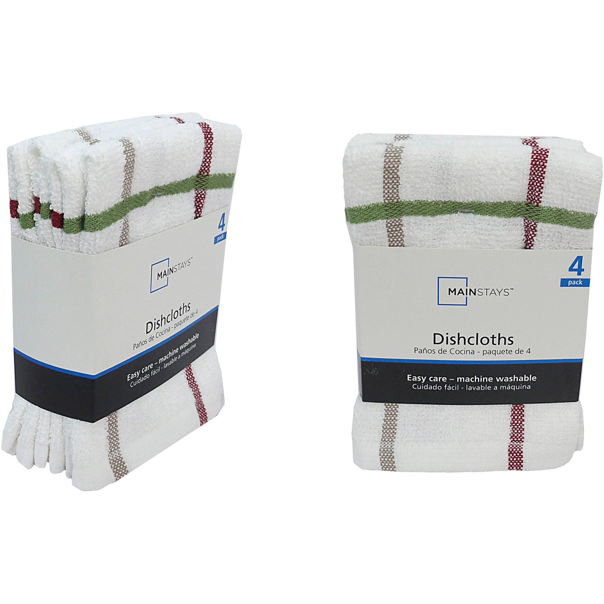 Walma Com: Mainstays 4 Pack Dish Cloth Multi