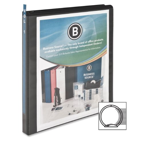 """Business Source Round-ring View Binder 1 2"""" Binder Capacity Letter 8 1 2"""" x 11"""" SHeet Size 125... by Business Source"""