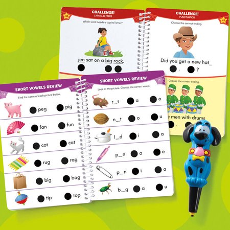 Educational Insights Hot Dots Jr  Lets Master Kindergarten Reading Set With Ace Pen