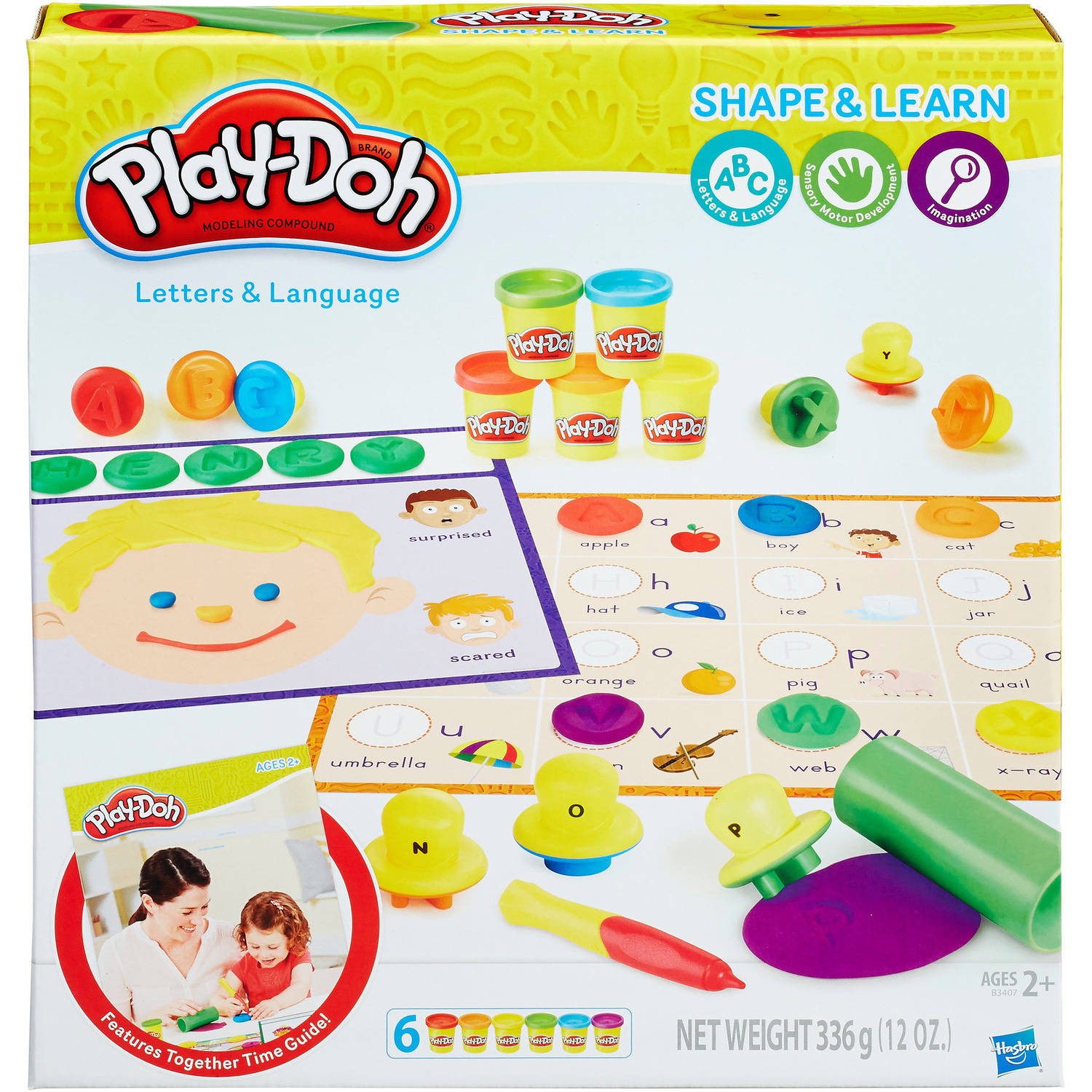 Play-Doh Shape and Learn Letters and Language