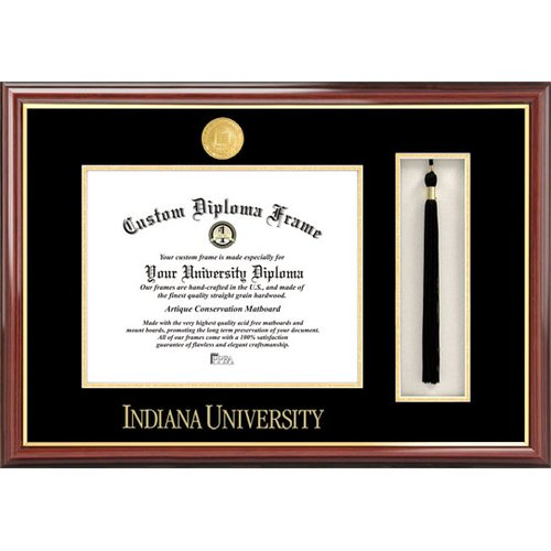 "Indiana University, Bloomington 8.5"" x 11"" Tassel Box and Diploma Frame"
