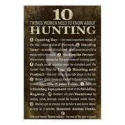Reflective Art 10 Things Women Need to Know about Hunting Textual Art