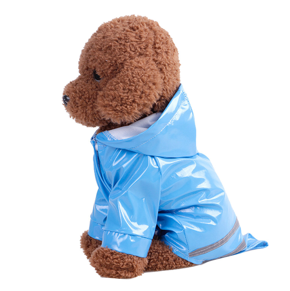 Pet Dog Hooded Raincoat Pet Waterproof Puppy Dog Jacket Outdoor Coat