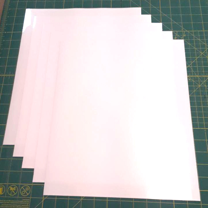 "White Siser Easyweed Stretch 15"" x 12"" (5 Sheets) Iron on Heat Transfer Vinyl, HTV"