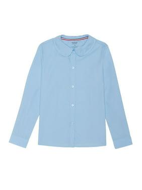 French Toast Girls School Uniform Long Sleeve Modern Peter Pan Collar Blouse (Little Girls & Big Girls)