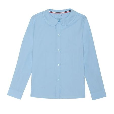 4ca70e40a FRENCH TOAST - Long Sleeve Modern Peter Pan Collar Blouse (Little Girls &  Big Girls) - Walmart.com