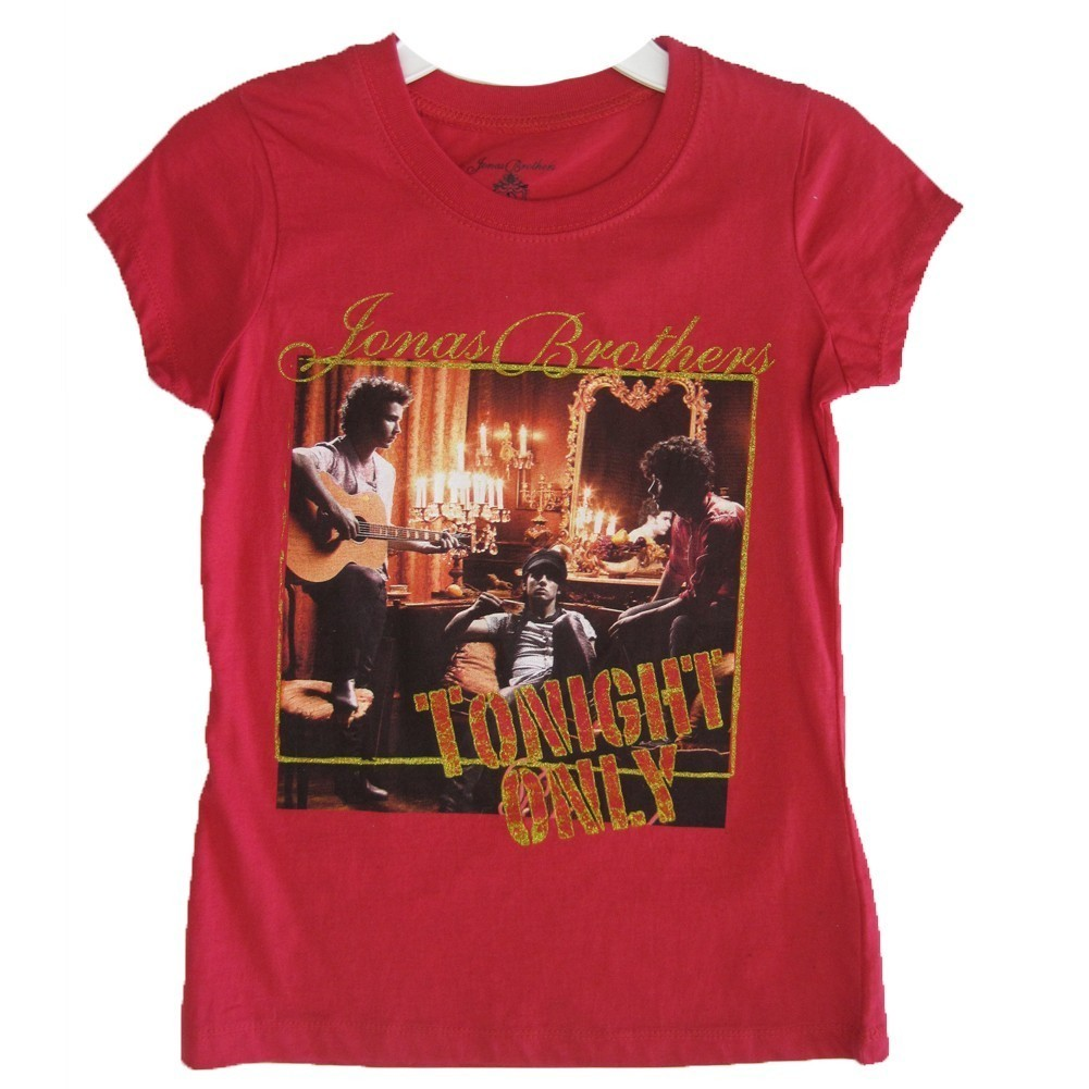 "Jonas Brothers Girls Red ""Tonight Only"" Scene Printed T-Shirt 7-16"