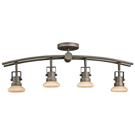 Kichler Lighting 7755oz Structures 4 Light Fixed Directional Rail Olde Bronze With