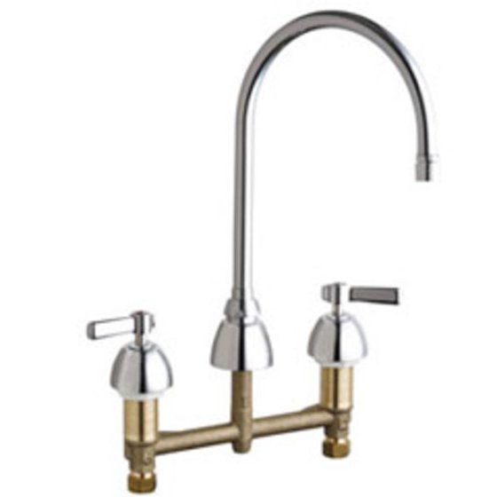 Chicago Faucets 201 Agn8ae2805fab Commercial Grade High Arch Kitchen Faucet With