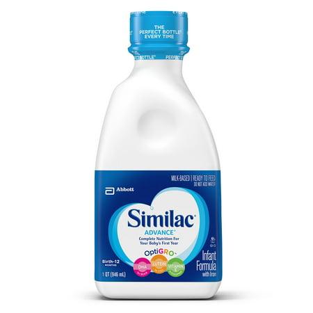 Similac Advance Infant Formula Ready To Feed 1 Qt Pack