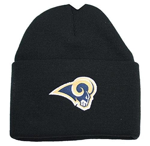 NFL St. Louis Rams Cuffed Knit Beanie Hat Black by NFL