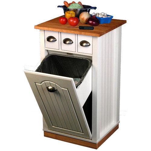 Venture Horizon Kitchen Cart with Butcher Block Top