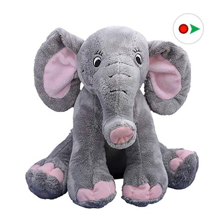 Record Your Own Plush 16 inch Elephant - Ready To Love In A Few Easy Steps