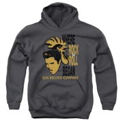 Sun Records Elvis And Rooster Big Boys Pullover Hoodie