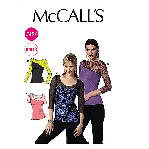 McCall's Pattern Misses' Tops, DD (12, 14, 16, 18)