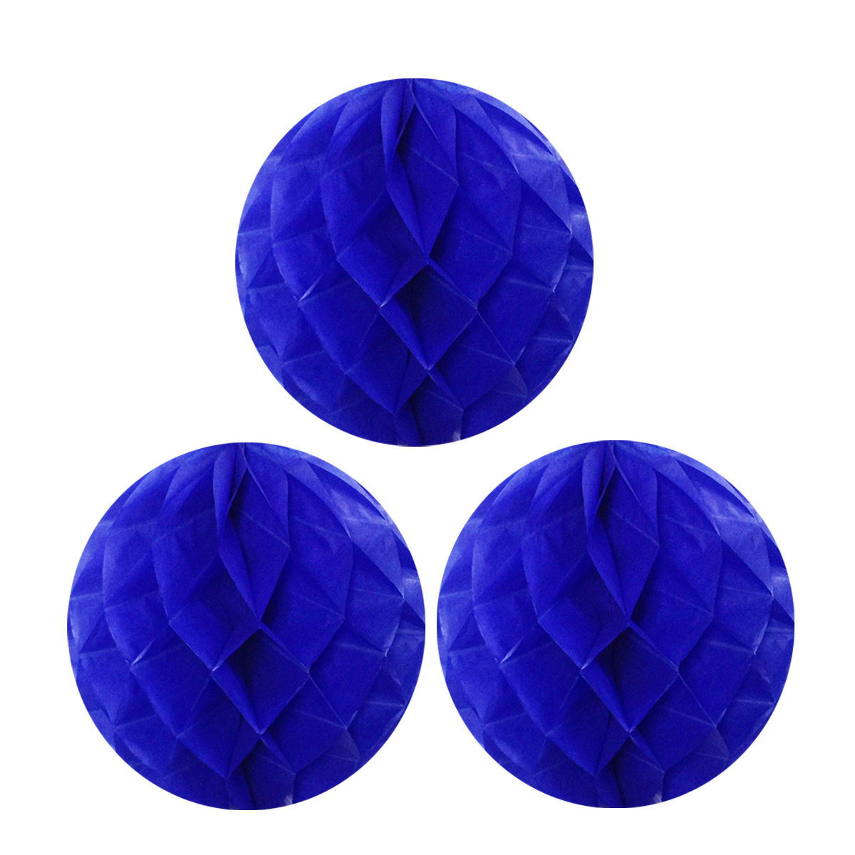 """Wrapables® 10"""" Set of 3 Tissue Honeycomb Ball Party Decorations for Weddings, Birthday Parties, Baby Showers, and Nursery Décor, Red"""