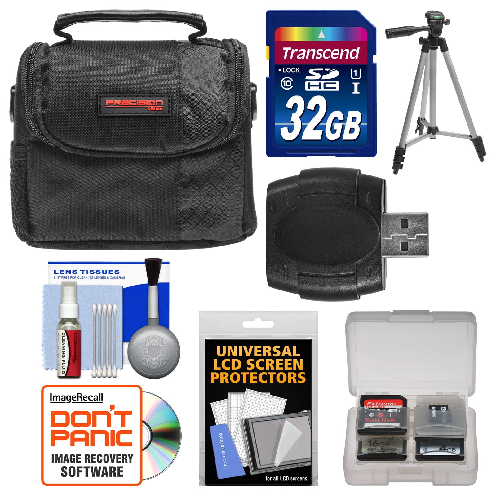Precision Design PD - C10 Camera / Camcorder Case with 32GB SD Card + Tripod + Accessory Kit