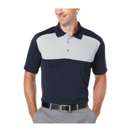 40aa13b1 PGA Tour Mens Colorblock Golf Rugby Polo Shirt truenavy L - image 1 of 1 ...