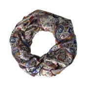 Peach Coutue Colorful Painting Print Infinity Loop Circle Scarf Peach