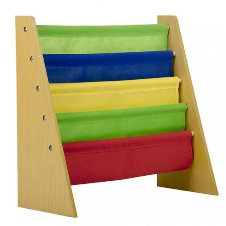- Kids Book Rack Storage Sling Bookshelf Toy Display Bookcase